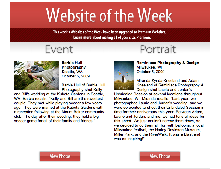 Website of the WEEK!!! - Barbie Hull Photography